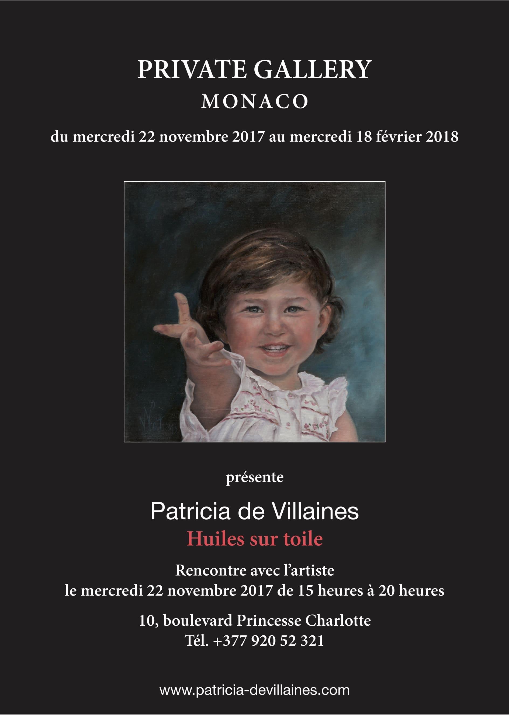 affiche patricia de villaines a monaco fevrier 2018 prince de monaco galerie monaco exposition monaco