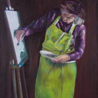 Marie-Alix - huile sur toile pinceau 60x73 cm